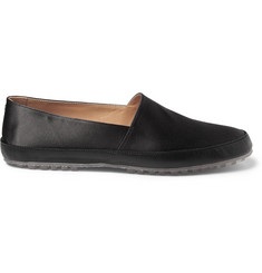 Maison Martin Margiela Satin and Leather Slip-On Shoes