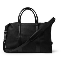 Maison Martin Margiela Leather-Trimmed Canvas Holdall Bag