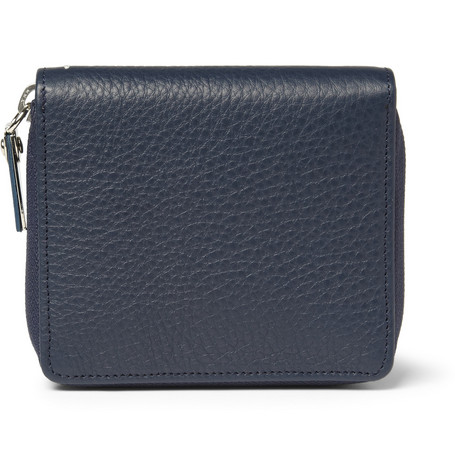 Maison Martin Margiela Pebble-Grain Leather Billfold Wallet