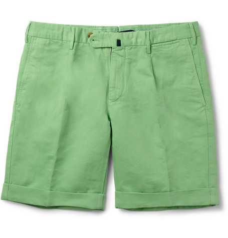 Slowear Incotex Linen and Cotton-Blend Shorts