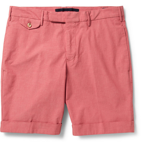Slowear Incotex Cotton-Blend Chambray Shorts