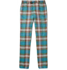 Slowear Incotex Slim-Fit Checked Linen and Cotton-Blend Chinos