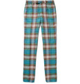 Incotex Incotex Slim-Fit Checked Linen and Cotton-Blend Chinos