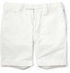 Slowear Incotex Slim-Fit Cotton-Seersucker Shorts