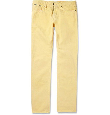 Slowear Incotex Slim-Fit Cotton and Linen-Blend Denim Jeans