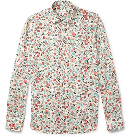 Slowear Glanshirt Slim-Fit Printed Cotton Shirt