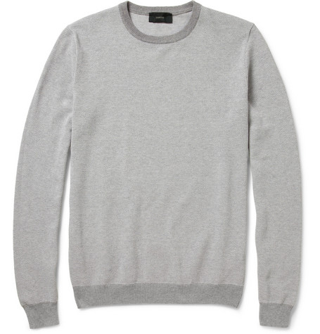 Slowear Zanone Cotton-Piqué Sweater