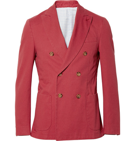 Slowear Montedoro Cotton-Twill Blazer