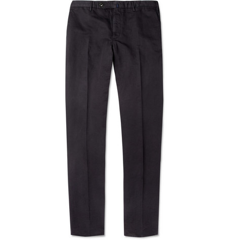 Slowear Incotex Slim-Fit Cotton and Linen-Blend Trousers