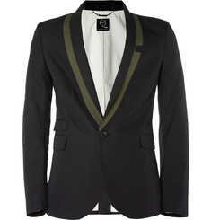 McQ Alexander McQueen Slim-Fit Cotton-Blend Tuxedo Jacket