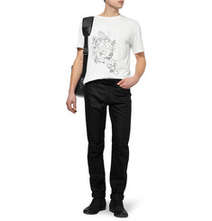 McQ Alexander McQueen Printed Cotton Crew Neck T-Shirt