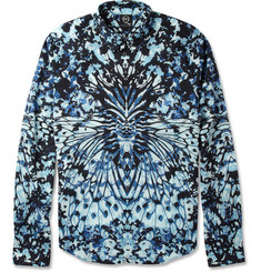 McQ Alexander McQueen Slim-Fit Beetle-Print Cotton Shirt