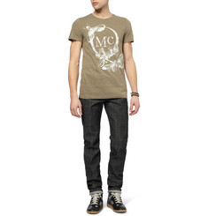 McQ Alexander McQueen Printed Cotton Crew Neck Short Sleeve T-Shirt