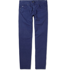 McQ Alexander McQueen Slim-Fit Faux Leather-Trimmed Lightweight Jeans