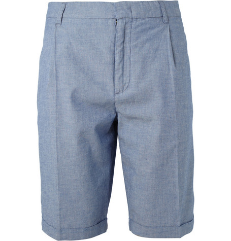 McQ Alexander McQueen Blue Cotton Suit Shorts