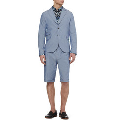 McQ Alexander McQueen Light Blue Cotton Suit Shorts