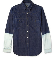 McQ Alexander McQueen Two-Tone Denim Shirt
