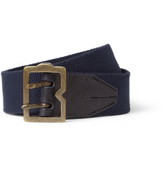 McQ Alexander McQueen Leather-Trimmed Canvas Belt