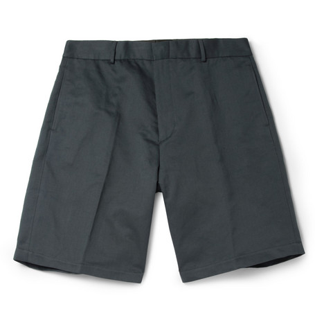 Margaret Howell Cotton and Linen-Blend Twill Shorts