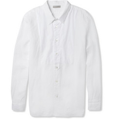 Margaret Howell Bib-Front Linen Shirt