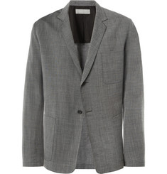 Margaret Howell Grey Unstructured Wool and Linen-Blend Suit Jacket