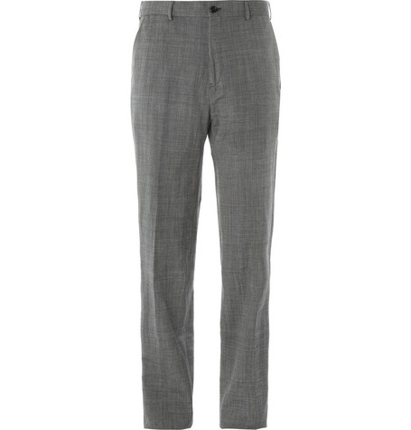 Margaret Howell Grey Wool and Linen-Blend Suit Trousers