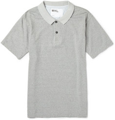 Margaret Howell MHL Striped Cotton and Linen-Blend Jersey Polo Shirt