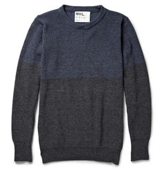 Margaret Howell MHL Two-Tone Cotton Crew Neck Sweater
