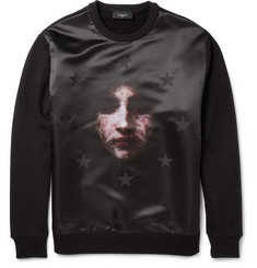 Givenchy Printed Satin and Jersey Sweatshirt