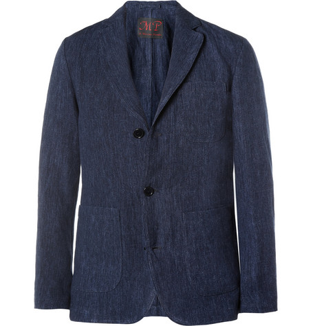 MP di Massimo Piombo Slim-Fit Unstructured Slub Linen Blazer