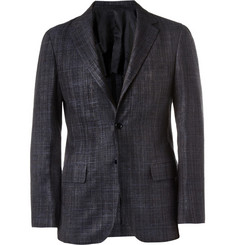 MP di Massimo Piombo Slim-Fit Silk and Cotton-Blend Blazer