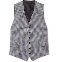 MP di Massimo Piombo Houndstooth Silk-Blend Waistcoat