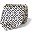 MP Massimo Piombo Diamond-Patterned Silk Tie