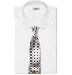 MP di Massimo Piombo Diamond-Patterned Silk Tie
