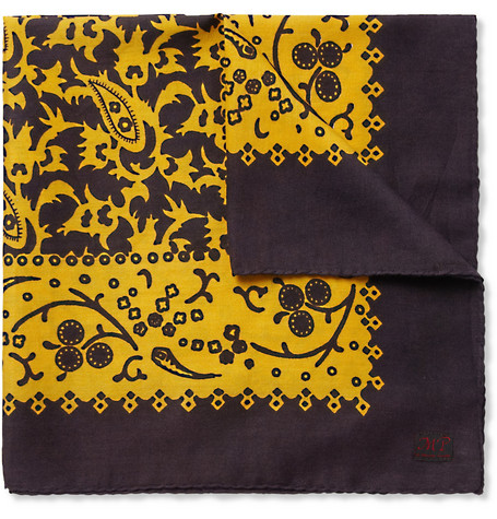 MP di Massimo Piombo Printed Cotton Pocket Square