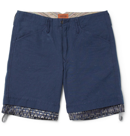 Missoni Contrast-Trim Cotton and Linen-Blend Shorts