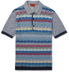 Missoni Knitted Linen and Cotton-Blend Polo Shirt