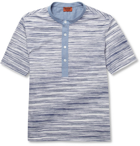 Missoni Patterned Cotton and Chambray T-Shirt
