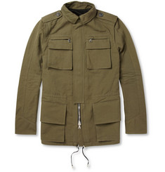 Balmain Cotton and Linen-Blend Field Jacket