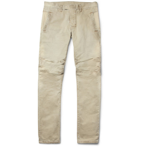 Balmain Slim-Fit Cotton-Twill Biker Trousers