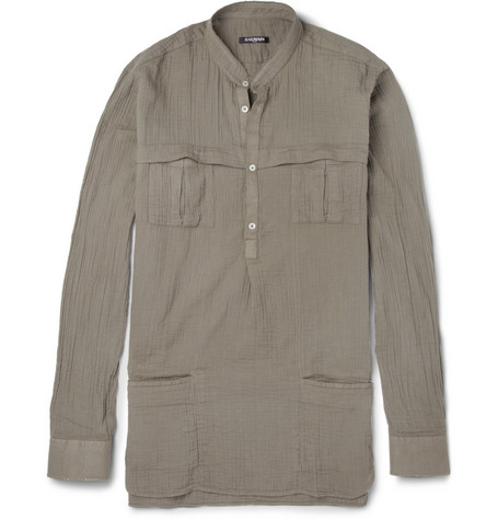 Balmain Washed-Cotton Shirt