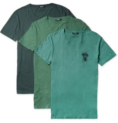 Balmain Three-Pack Cotton Crew Neck T-Shirts