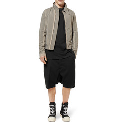 Rick Owens Drop-Crotch Wool-Blend Shorts