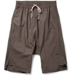 Rick Owens Drop-Crotch Cotton Shorts