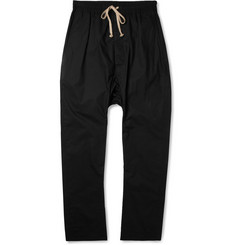 Rick Owens Drop-Crotch Cotton Trousers