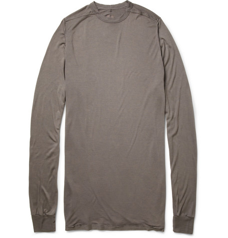 Rick Owens Long-Sleeved Jersey T-Shirt