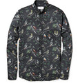 AMI - Bird-Print Cotton Shirt