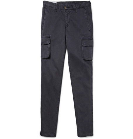 AMI Slim-Fit Cotton-Gabardine Cargo Trousers