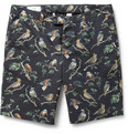 AMI - Bird-Print Cotton-Twill Shorts