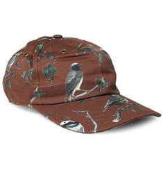 Ami Bird-Print Cotton Baseball Cap